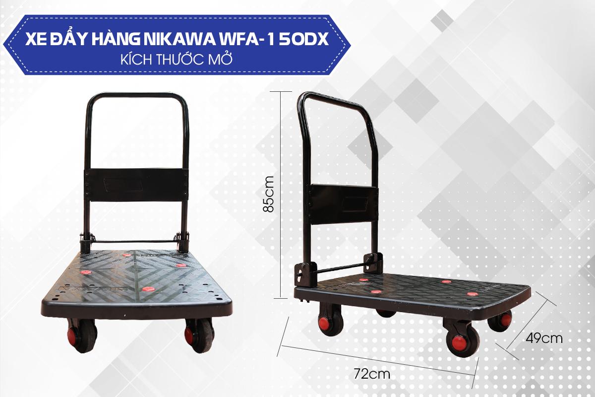 Xe đẩy hàng 4 bánh Nikawa WFA-150DX4