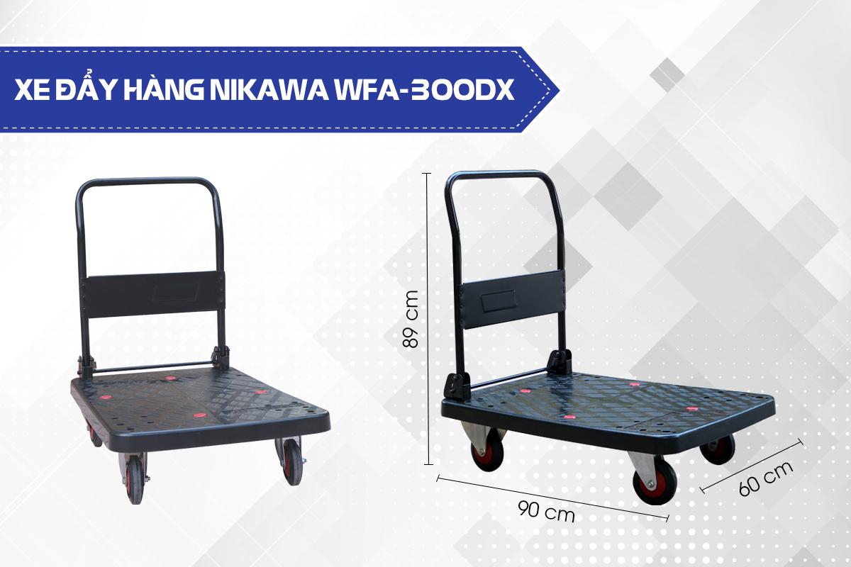 Xe đẩy hàng 4 bánh Nikawa WFA-300DX3